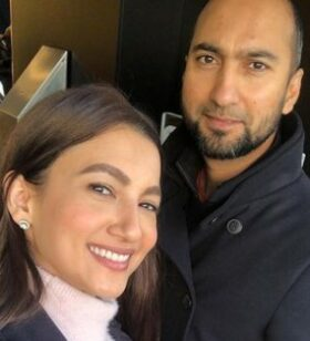 Gauhar With Brother