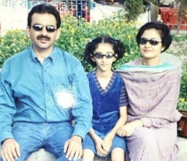 Kritika With Her father and Mother