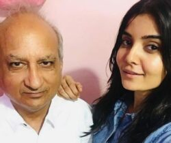 Madhuri with her father