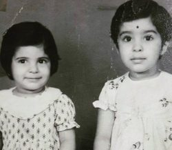 Mamta Verma With Her Brother Childhood Photo