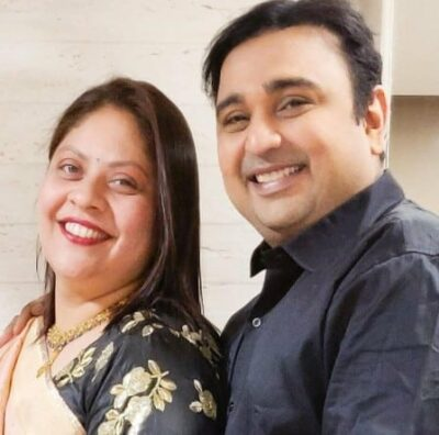 Mehul With His Wife