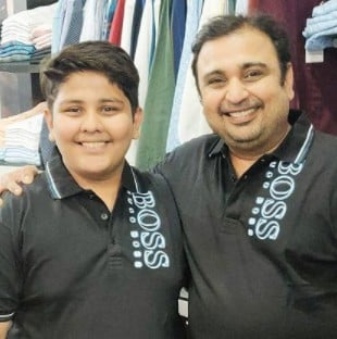 Nisar With His Son