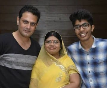 Rudra With Wife and Son