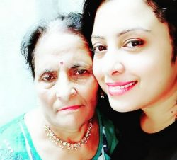 mamta Verma With Her Mother