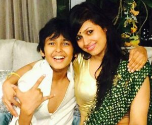 Jaiswal With his Mother