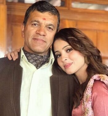 Richa Rathore With Her Father