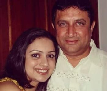 Shruti With Her Father