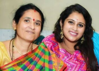 Geetha Bharathi With Her Mother