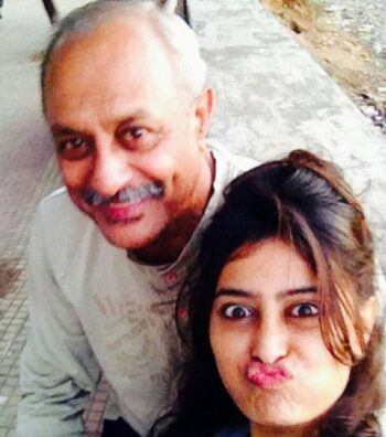 Niddhi Subbaiah With Her father