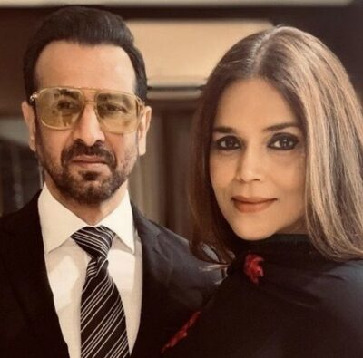 Ronit Roy With His Wife