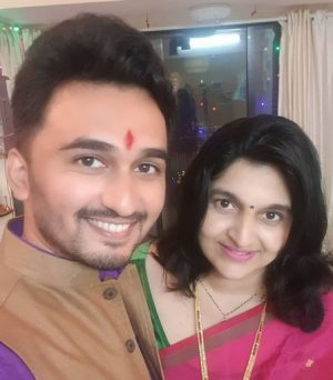 Vikas Patil With His Wife