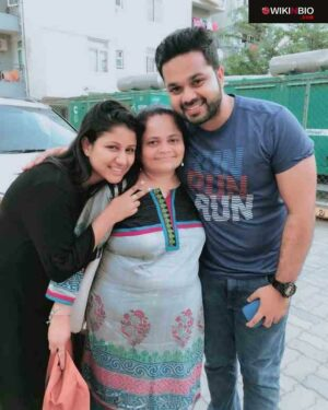 Sanjeev Karthick with mother in law