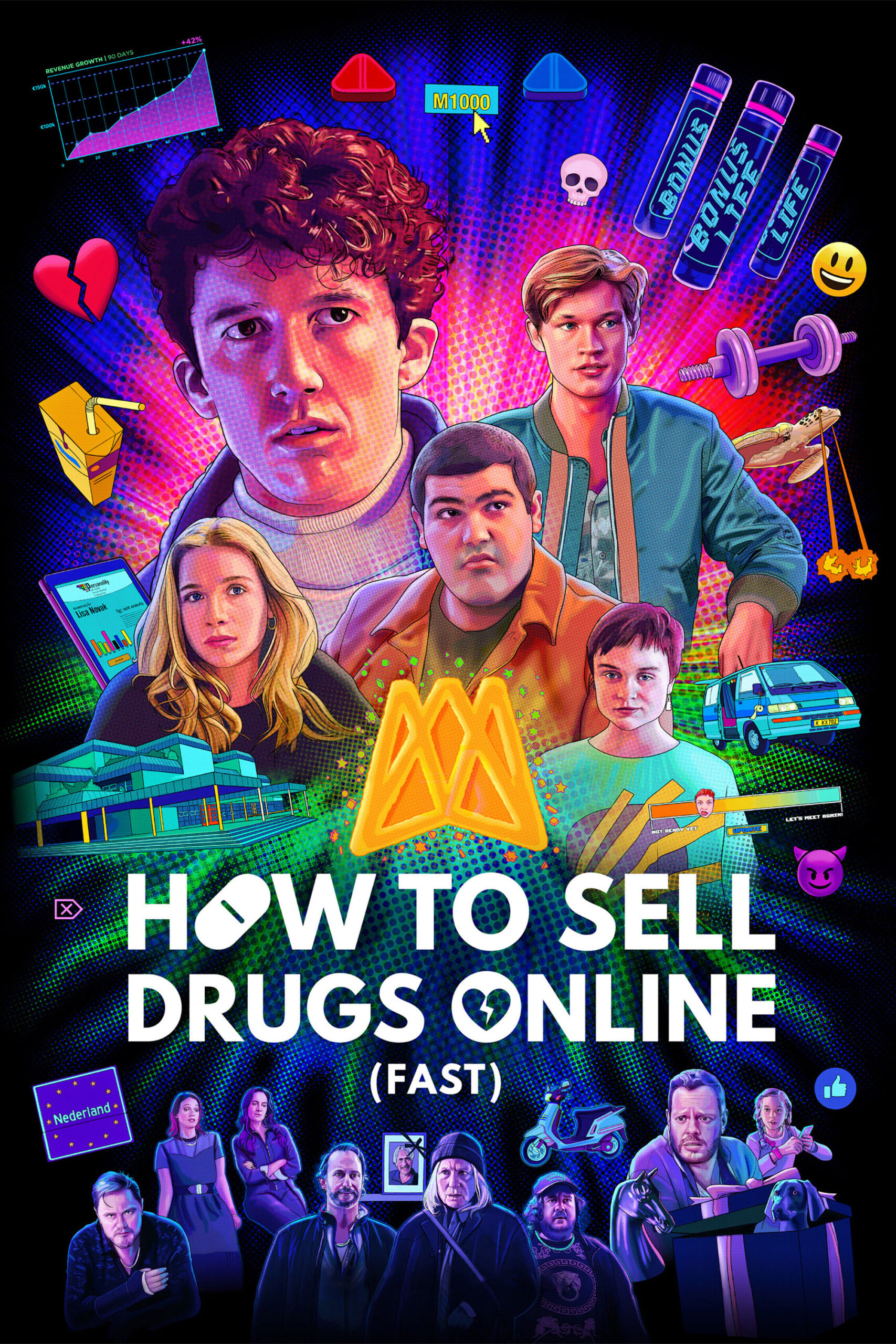 Watch How to Sell Drugs Online (Fast) Season 3 online now on Netflix cast review release date hero heroine hit or flop