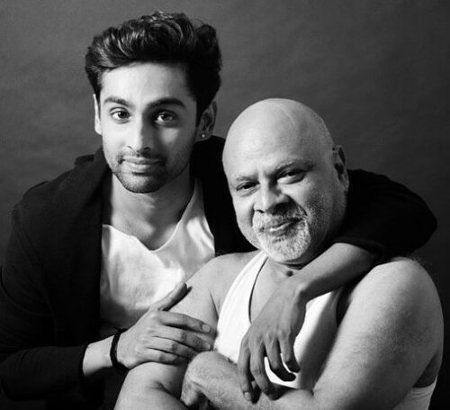 Vidyut Xavier With His Father